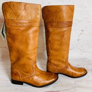 Frye Melissa Trapunto pull on OTK boots